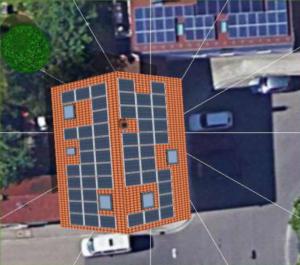 Auslegung des Daches mit der Photovoltaik